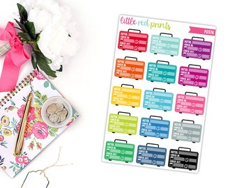 Hotel Tracker Planner Stickers for the Erin Condren Life Planner, Hotel Sticker, Hotel Planner Sticker, Trip Planner Sticker - [P0376]