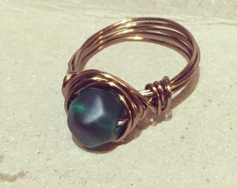 Brass wire wrapped ring