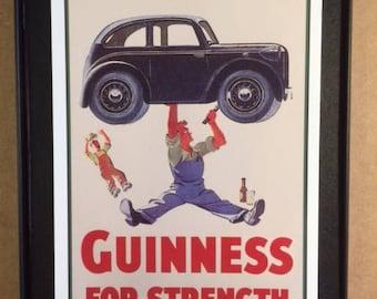 Guiness Beer Framed Art Card