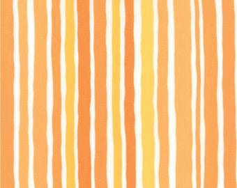 Dot Dot Dash by Me and My Sister for Moda Wobbly Stripes ORANGE 22264 13