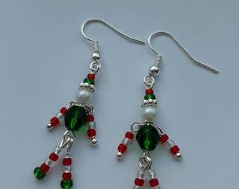Christmas Elf Festive Dangle Earrings