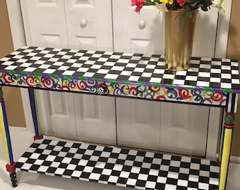 Superior Whimsical Painted Table, Whimsical Painted Furniture, Hand Painted  Furniture, Painted Table, Painted