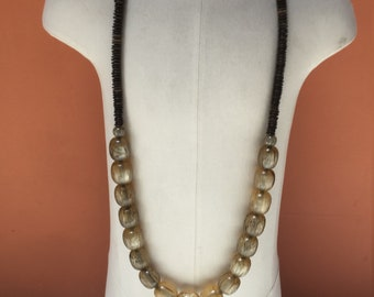 Vintage African Beaded Tribal Necklace