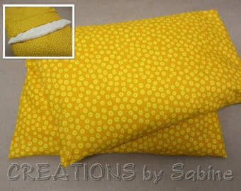 Corn Pillow Heating Pack Warmth Cooling Relief Pack Pad Washable Cover Mustard Yellow Dots Mother's Day Gift Idea READY TO SHIP (547)