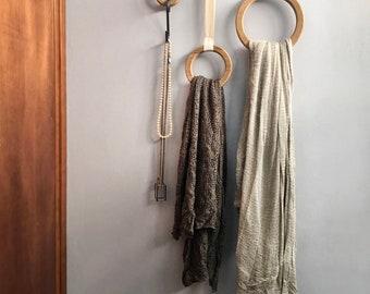 Towel Holder, Belt Hanger Organizer, Tie Rack, Scarf Display Stand, Jewelry Display Rack, Accessories Holder