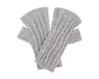 Alpaca Wool Fingerless Mittens, Soft, Warm, for Women & Girls, 9 colours Ready to Ship, Hand Knitted, Ethical, Fair Trade, 100% Alpaca Fibre