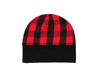 Buffalo Plaid Baby Hat - Red and Black Plaid Hat - Lumberjack Hat - Plaid Cap - Red Buffalo Plaid - Red Plaid Hat - Newborn Hat - baby gift