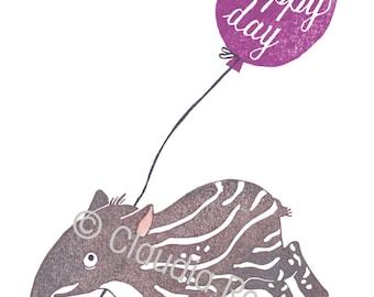 "card ""happy day"" tapir"