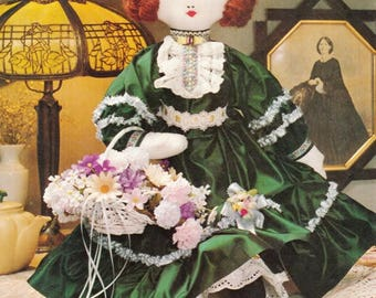 """Sewing Pattern~Vintage 24"""" Victorian Doll~Make Dolls with Clothes~Dress~Purse~Panties~Great Gift! PDF INSTANT DOWNLOAD Pattern Only"""