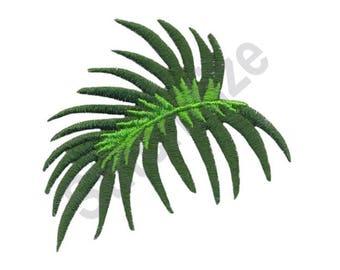 Palm Leaf - Machine Embroidery Design, Leaf, Palm