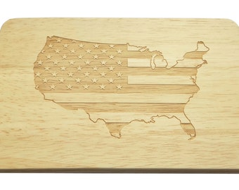 Breakfast Board USA engraving Flag Star Banner-Breakfastboard-engraveing-American flag-Stars and Stripes
