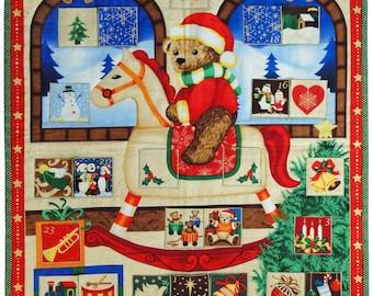 Teddy Rocker cloth wall hanging Advent Calendar