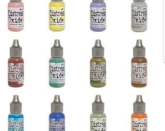 Tim Holtz- Ranger-Distress Oxide Reinkers-Release 3- Set of 12  (in stock)