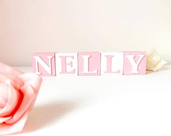 Custom Baby Name Baby Blocks, Montessori Furniture, First Birthday Party Personalised Decoration, Baby Name Blocks For Nursery, Naming Gift