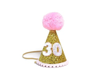 Adult Birthday Party Hat ||Adult Party Hat || 30th Birthday For Her || Dirty Thirty || Add Any Number