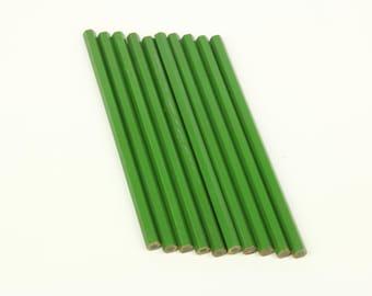 Vintage French Pencils, set of 10  Conté of Paris  green lead pencils