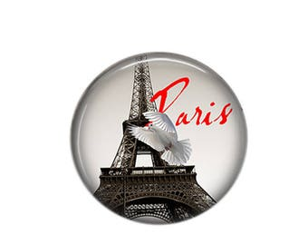 Round cabochon resin 25mm Paris My Love 08