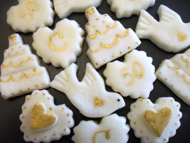 GOLDEN ANNIVERSARY MINTS 6 dozen Cream Cheese Mints 50th