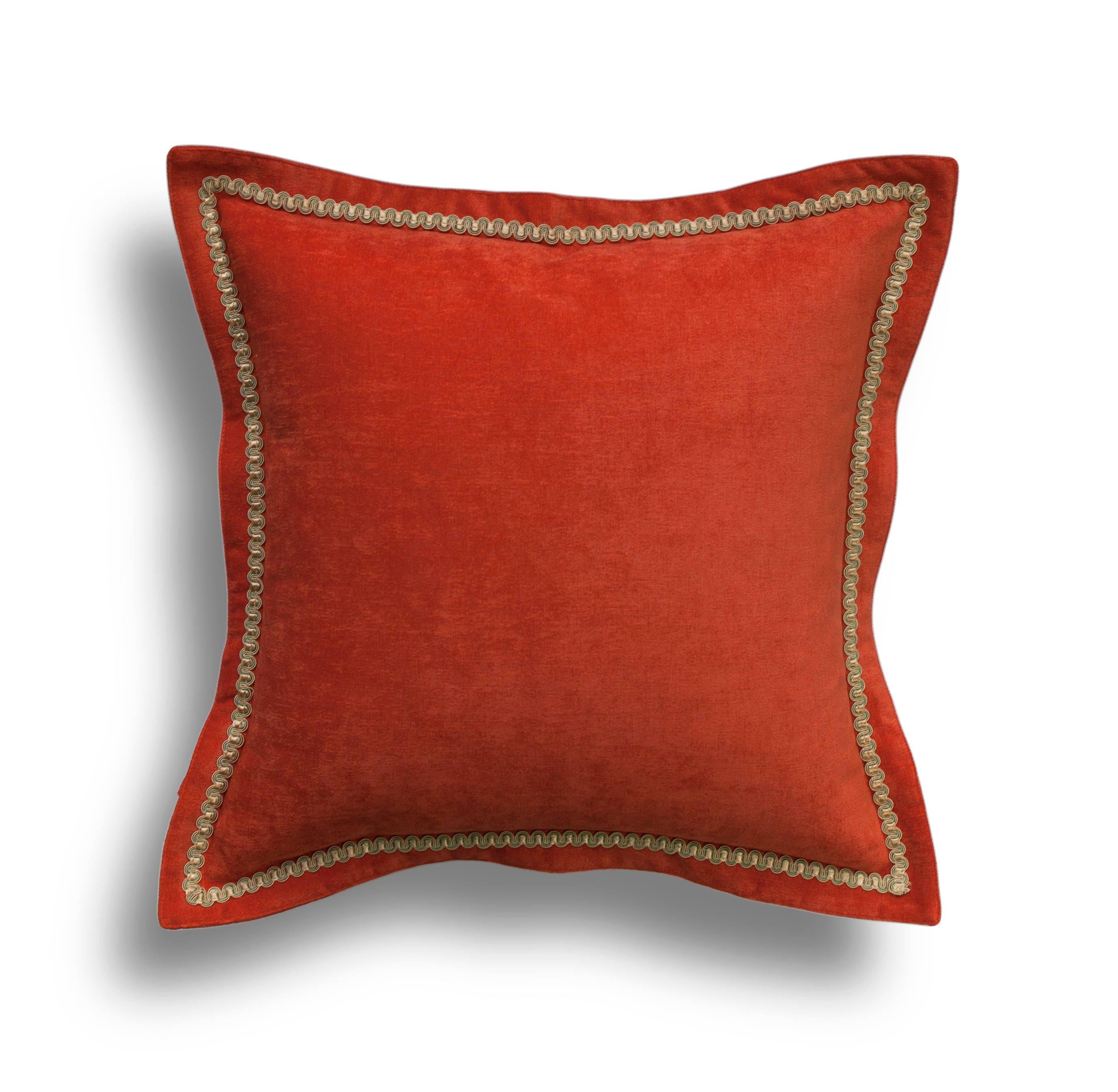 Orange Velvet Throw Pillow Cover Orange Pillow Cover ~ Red Throw Pillows For Sofa