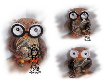 Crochet PATTERN, Collectors item  01 Wise Owl, Toy, Home Decor, DIY Pattern 30