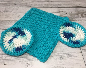 Crochet Spa Set, Gift Set, Gift for Her, Spa Gift Set, Handmade Gift Set