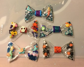 Customizable/Fillable Hair Bow or Bow Tie (Mermaids,Fish,Basketball,etc.)