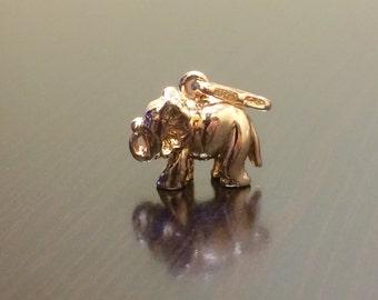 14K Rose Gold Elephant Pendant - Rose Gold Elephant - Rose Gold - Gold Elephant - Elephant - Rose Gold Pendant - 14K Gold Pendant - Gold