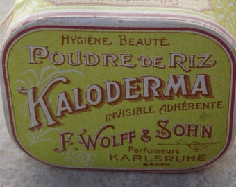 Antiquee UNUSED Beauty Powder ''Kaloderma'' Made in KARLSRUHE UNUSED