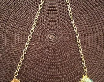 Fruit Covered handmade Vintage Assemblage Necklace