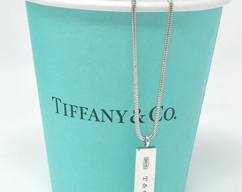 Vintage Tiffany & Co Sterling Bar Necklace 1837 Collection