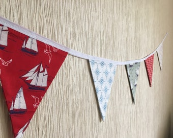 2in1 bunting, Sea bunting, London bunting, boats bunting, kids room decor, kids room hanging,