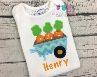 Baby Boy Easter Shirt - Easter Outfit - Boy Easter Shirt - Carrot Shirt - Boy Easter Clothes - Personalized Easter clothes - Spring clothes