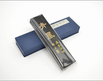 Free Shipping Chinese Calligraphy Material  Hu Kaiwen Pine Soot Ink Stick Ink Block / TZQM (Specialty  Blue Ink) - 31g- 0001P