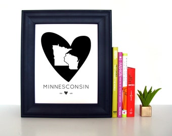 Minnesconsin | Midwest Print | 8x10 | Home Decor | Wisconsin Minnesota | Midwest Is Best | Minnesconsin Printable | Instant Download | Print