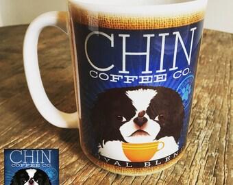 Chin dog Coffee company graphic art MUG 15 oz ceramic coffee mug