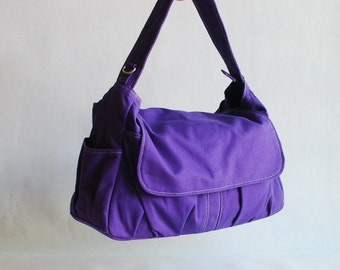 Etsy's 13th Birthday Sale  25% - Messenger Bag,  Pico, Purple, Women/ Handbag / School Bag / Shoulder Bag/ Women /For Her/ Gifts