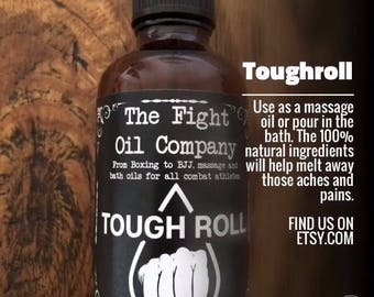 Tough Roll 50ml. A massage and bath oil to ease the aches and pains that come with being a combat athlete!
