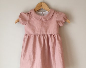 Dusty Rose Peter Pan Collar Dress