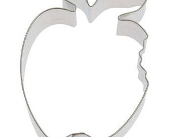 "Apple with bite cookie cutter, apple cookie cutter 4"" Fruit Cookie Cutter"