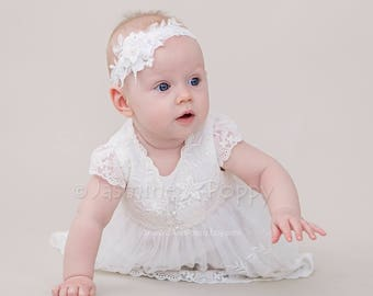 Baby christening gown, lace baptism dress, baby lace dress, christening dress, blessing dress, contemporary christening dress, baby dress