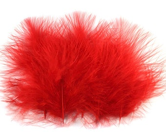 Marabou Feathers Red 12103