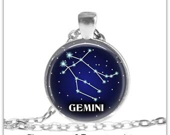 Zodiac Jewelry Gemini Zodiac Necklace Constellation Astrology Jewelry Horoscope Jewelry Zodiac Sign Birthday Gift Gemini Zodiac Keychain