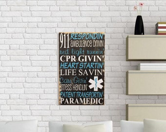 Paramedic Gift - Paramedic - Paramedic Decor - First Responder - EMT Gifts - EMS - EMS Gifts - Volunteer Gifts - Paramedic Wife - Emt Wife