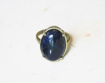 Dark Blue Ring Blue Sodalite Ring Blue Stone Ring Blue Gemstone Ring Sodalite Gemstone Ring Dark Blue Gemstone Sodalite Ring