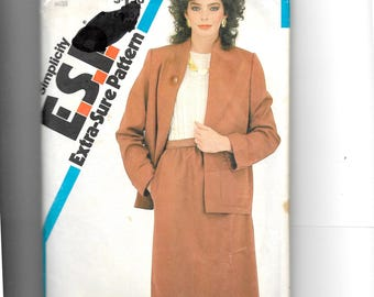 Simplicity Misses' Skirt and Unlined Jacket Pattern 5715