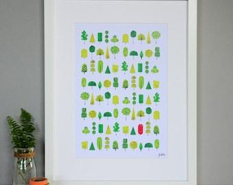 One Orange Tree Nature Print