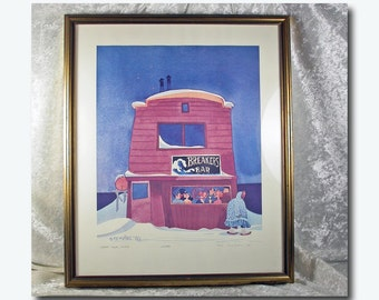 "Rie Munoz Framed Limited Edition Print - ""Happy Hour, Nome"""