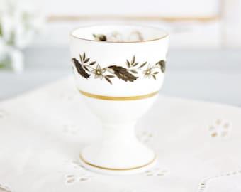 Vintage Royal Worcester Egg Cup | Floral Egg Cup, Green Egg Cup, Vintage Egg Cup, Pretty Egg Cup, English Egg Cup, Bone China Egg Cup