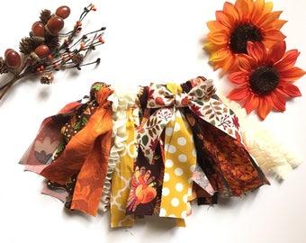 Thanksgiving tutu, leaf pumpkin turkey print tutu, orange brown, Newborn, Toddler and Girls Tutu, Children's Clothing Tutu Skirt, Fall Color