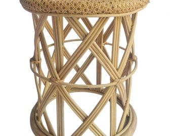Rattan Stool / Kids Side Table in Natural